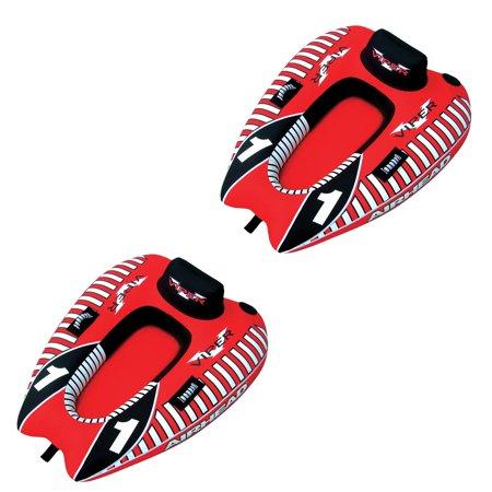 - AIRHEAD AHVI-F1 Viper 1 Single Rider Cockpit Inflatable Lake Water Tube (2 Pack)