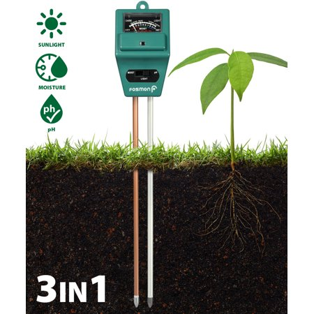 Soil Tester Meter, Fosmon 3-in-1 pH Meter, Soil Sensor for Moisture, Light, & pH Level Measurement for Growning Garden, Lawn, Farm, Plants, Flowers, Vegetable, Herbs & (Best Soil Substrate For Planted Aquarium)