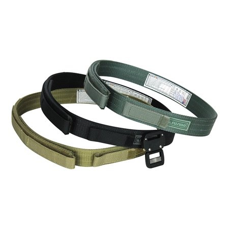 Fusion Tactical Military Police Trouser Belt Generation II Type F Pack of 3 Colors Small 28-33