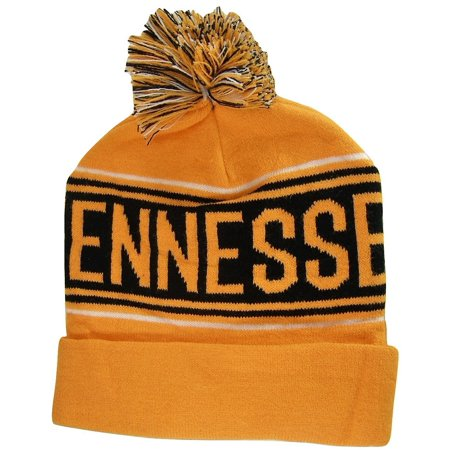 Tennessee Adult Size Winter Knit Beanie Hats - Tennessee Top Hat