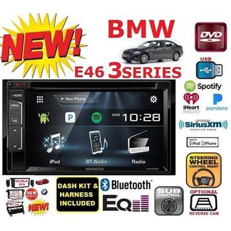 Bmw Wood Dash (BMW E46 KENWOOD DVD BLUETOOTH Double Din Car Stereo Radio+Dash Kit+Harness+A/C )