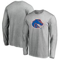 Boise State Broncos Fanatics Branded Primary Logo Long Sleeve T-Shirt - Ash
