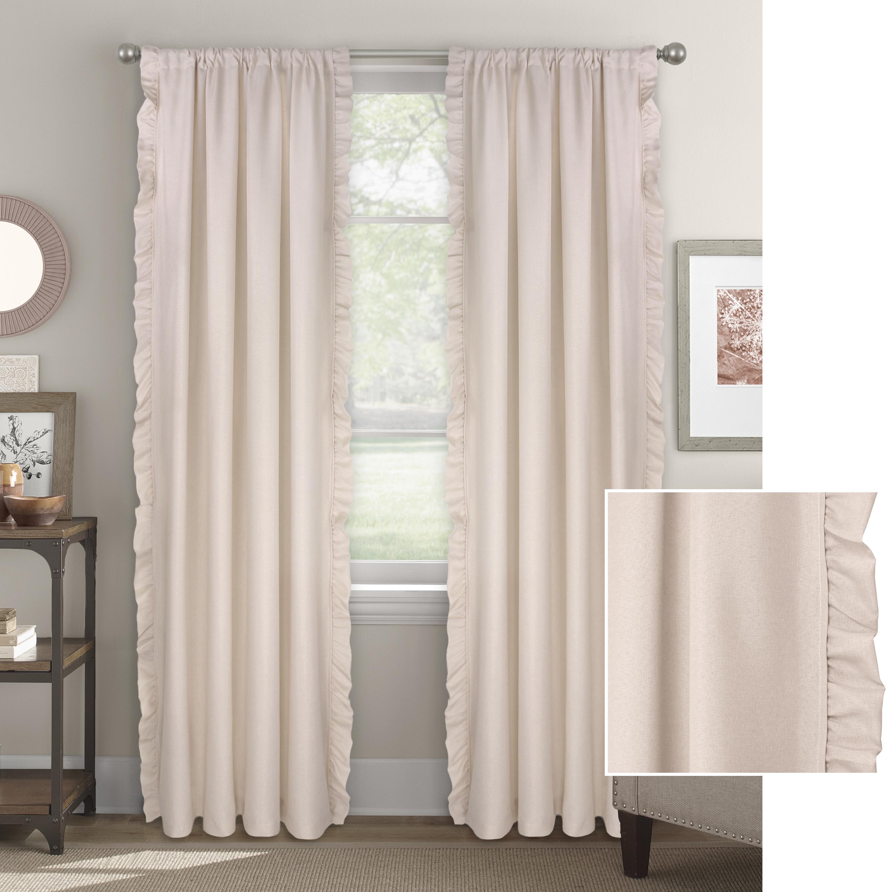 Better Homes & Gardens Vertical Ruffle Window Curtain Panel
