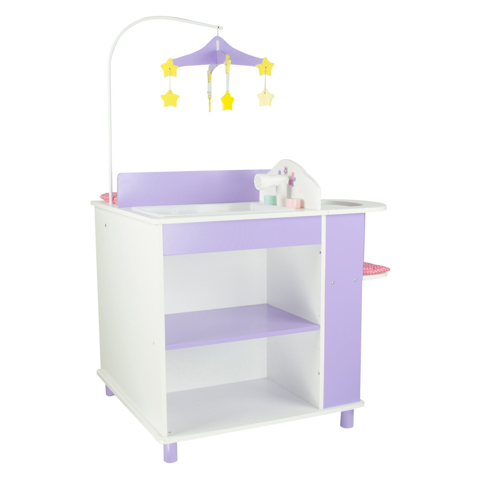 Olivia's Little World Princess Baby Doll Furniture Baby Changing Station with Storage (White) Wooden 18 inch... by Teamson