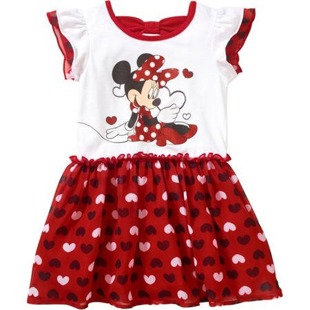 Minnie Mouse Toddler Girl Flutter Sleeve Tee Dress