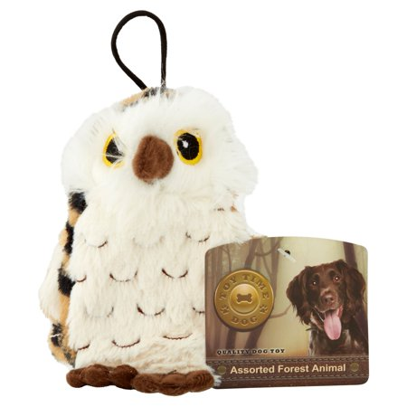 Quality Dog Toy Assorted Forest Animal Plush Owl Dog Toy, 6