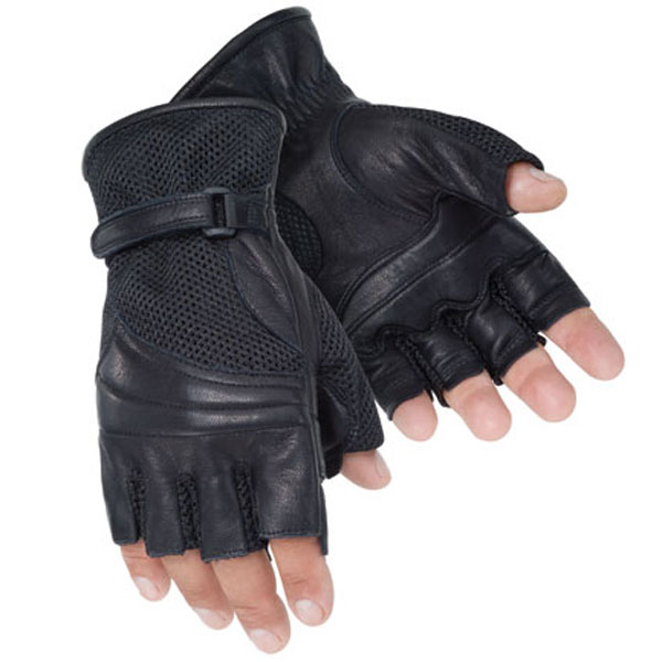 Tourmaster Gel Cruiser II Fingerless Gloves Black