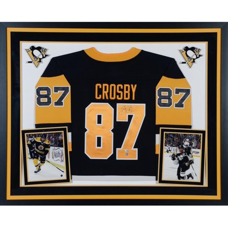 super popular 948d5 8bfa5 Sidney Crosby Pittsburgh Penguins Deluxe Framed Autographed Black Fanatics  Breakaway Jersey - Frameworth - Fanatics Authentic Certified