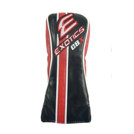 NEW Tour Edge Exotics CBX Black/White/Red Leather Fairway (Winning Edge Designs Animal Headcovers)