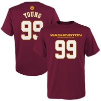 Chase Young Washington Football Team Youth Mainliner Player Name & Number T-Shirt - Burgundy