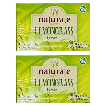2x NaturaTe Lemongrass Tea Te Lemon Infusion Herbs Caffeine Free 100% Natural