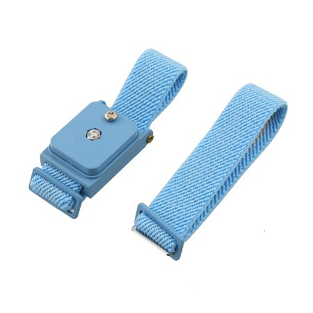 Unique Bargains Blue  Adjustable Elastic Antistatic Wrist Strap Wristband