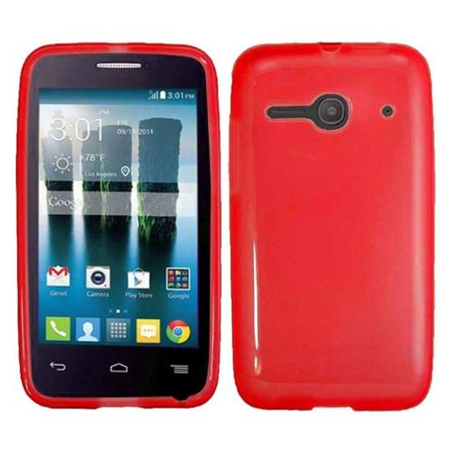 Insten Gel Cover Case For Alcatel One Touch Evolve 2 - Red