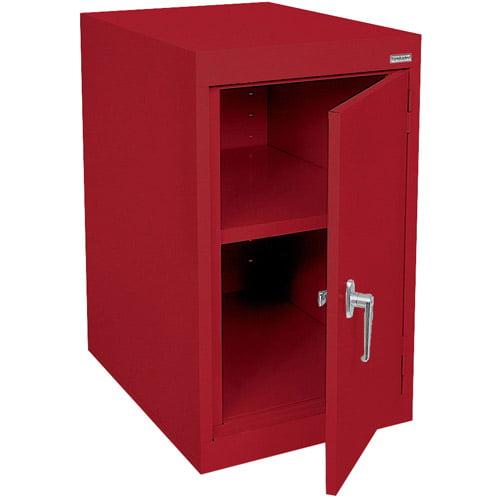 "Elite Series Desk Height Storage Cabinet with Adjustable Shelf, 18""W x 24""D x 30""H, Red"
