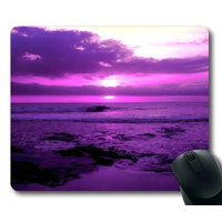 POPCreation Purple Beach Sunset Mouse pads Gaming Mouse Pad 9.84x7.87 inches