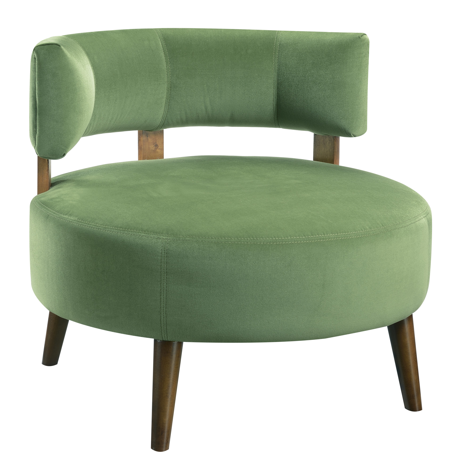 Emerald Home Sphere Grass Green Accent Chair With Oversized Seat, Curved  Back, And Stitching Detail   Walmart.com