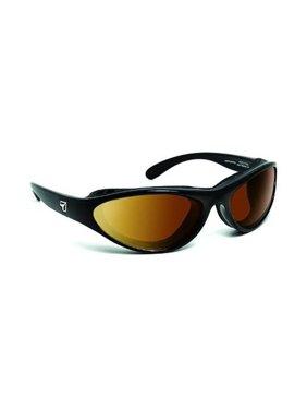 7eye 150542 Viento Sharp View Copper Sunglasses, Glossy Black - Small & Medium