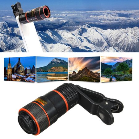8/18X Cellphone Clip-on Telescope Universal High Definition Optical Zoom Focus Phone Telescope Camera Lens For Concert Outdoor Travel ()