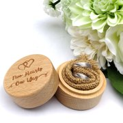 Gobestart Ring Box Wedding Wooden Box Ring Storage Rings Organizer Wedding Party Accessory
