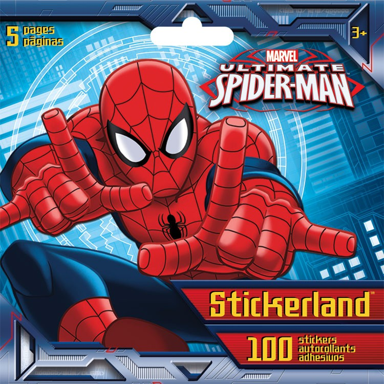 Mini Stickerland Pad - Spider -Man - 6 pages Toys Stationery New st5197