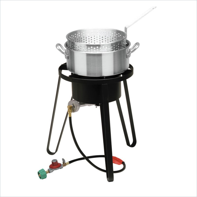 Bayou Classic B135 Sportsmans Choice Outdoor Fish Cooker and 10 PSI Regulator