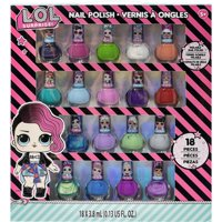 Townley Girl L.O.L. Surprise! Non-Toxic Peel-Off Nail Polish Set for Girls, Glittery and Opaque Colors, Ages 5+ (18 Pack), for Parties, Sleepovers and Makeovers