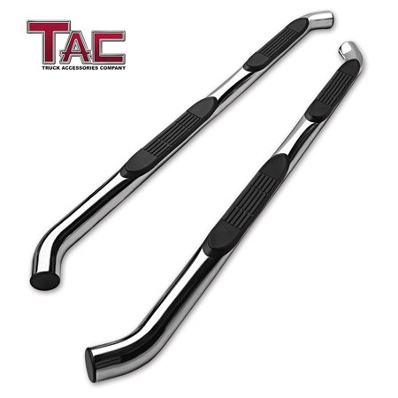 "TAC 3"" Side Steps for 2005-2019 Toyota Tacoma Double Cab Pickup Truck Stainless Steel Side Bars Nerf Bars Running Boards"