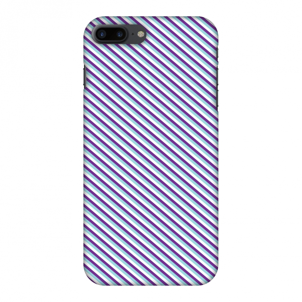 iPhone 8 Plus Case - Checkered In Purple, Hard Plastic Back Cover. Slim Profile Cute Printed Designer Snap on Case with Screen Cleaning Kit