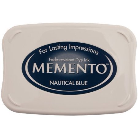 Memento Fade Resistant Dye Inkpad, Full, Nautical Blue, Innovative inkpad captures fine details and offers exceptionally even coverage By Tsukineko