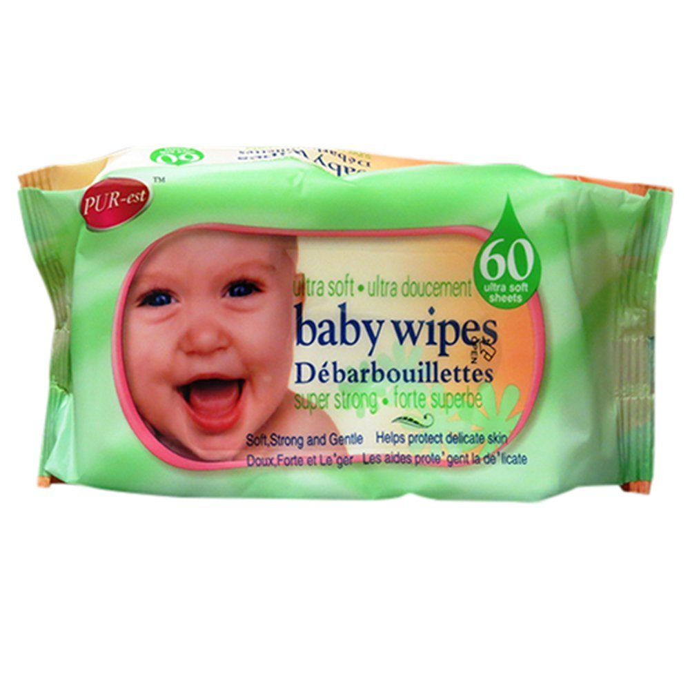 Ultra Soft Baby Wipes 60 In 1 Pack (Pack of 3) By Purest - image 1 de 1