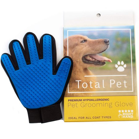 Pet Grooming Glove: Cat & Dog Deshedding Brush for Short & Long -