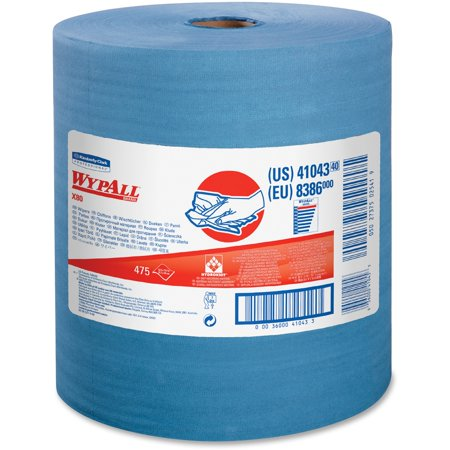 Wypall, KCC41043, X80 Blue Wipers Jumbo Roll, 1 / Each, Blue