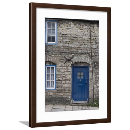 Door and Windows in Front of a Traditional Stone Cottage in Village of Corfe Castle Dorset Uk Framed Print Wall Art By Natalie (Best Villages In Dorset)