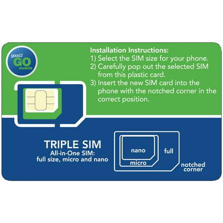 good2GO Mobile G2GSIMBBY 3-in-1 SIM Card