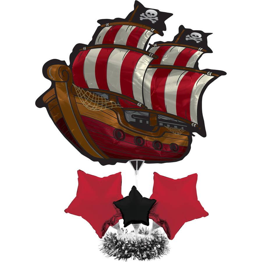 Image of Pirate Ship Air-Filled Balloon, 1pk