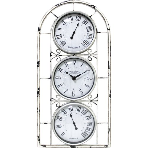 FirsTime Window Station 9 in. Wall Clock
