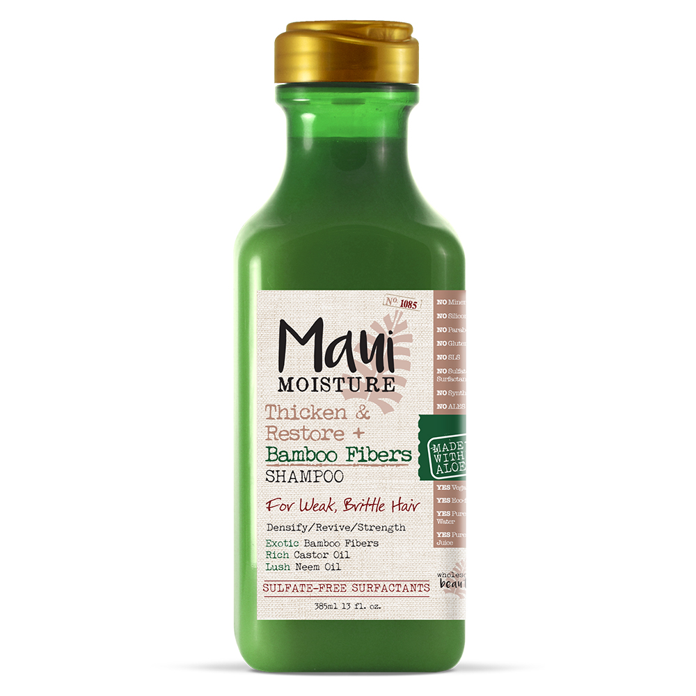 Maui Moisture Thicken & Restore + Bamboo Fiber Shampoo, 13 FL OZ
