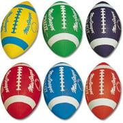 Multicolor Footballs-Color:Blue,Quantity:1,Size:Youth