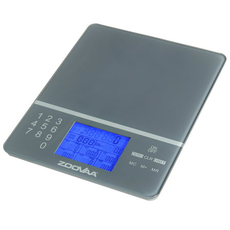 Digital Kitchen Food Scale for Nutrition Facts, Portion Control and Macros with close to 1000 food codes by ZooVaa - 10-KDS-001G ()