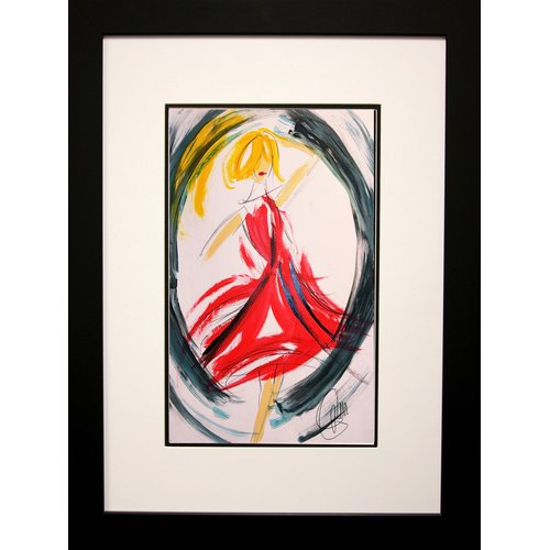 Buy Art For Less 'Circle of Peace Love' Framed Painting Print on Paper