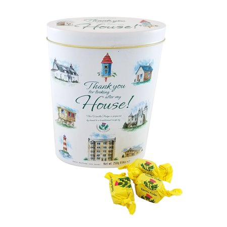 Gardiners of Scotland Vanilla Fudge in a Decorative 'Thank You For Caring For My House' Tin, 8.8 oz