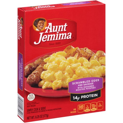 Aunt Jemima Scrambled Eggs and Sausage with Seasoned Roasted Potatoes, 6.25 oz