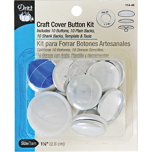 Craft Cover Button Kits, Size 45, 10/pkg