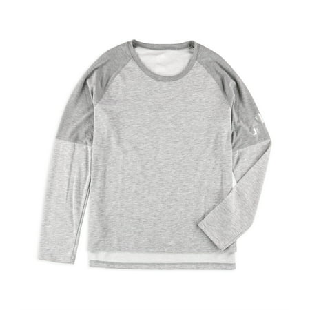 Adidas Womens Climalite Cover Up Basic T-Shirt, Grey, X-Large