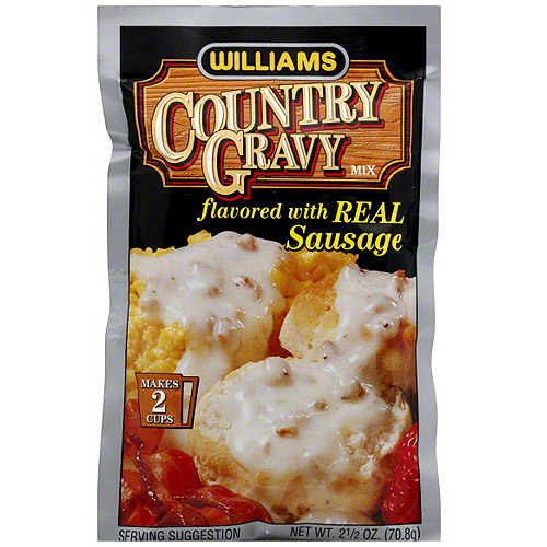 Williams Country Gravy Mix Flavored With Real Sausage, 2.5 oz (Pack of 12)