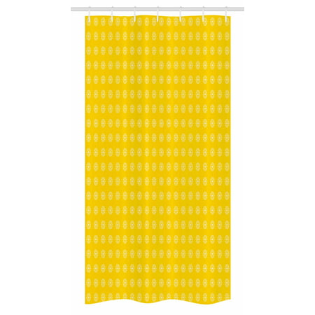 Yellow Stall Shower Curtain Hippie Flower Children 39 S 70s Retro Themed Pattern Floral Daisy