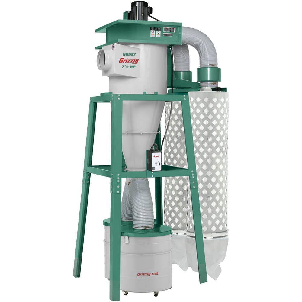 Grizzly G0637 7-1 2 HP 3-Phase Cyclone Dust Collector by Grizzly