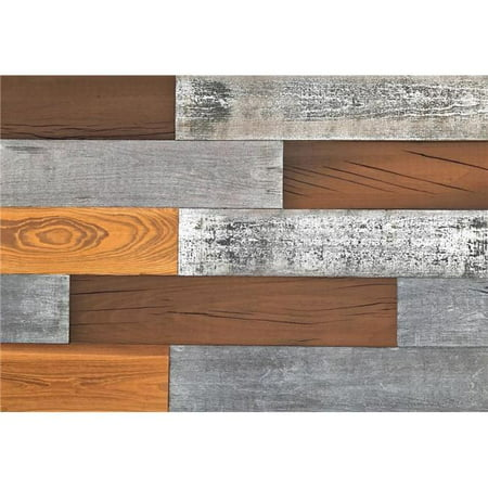Smart Paneling 11337 0.25 x 5 x 24 in. 3D Mixed Wood Reclaimed Diy Installation Wall Planks, Case of 12](Diy Wood Wall Art)