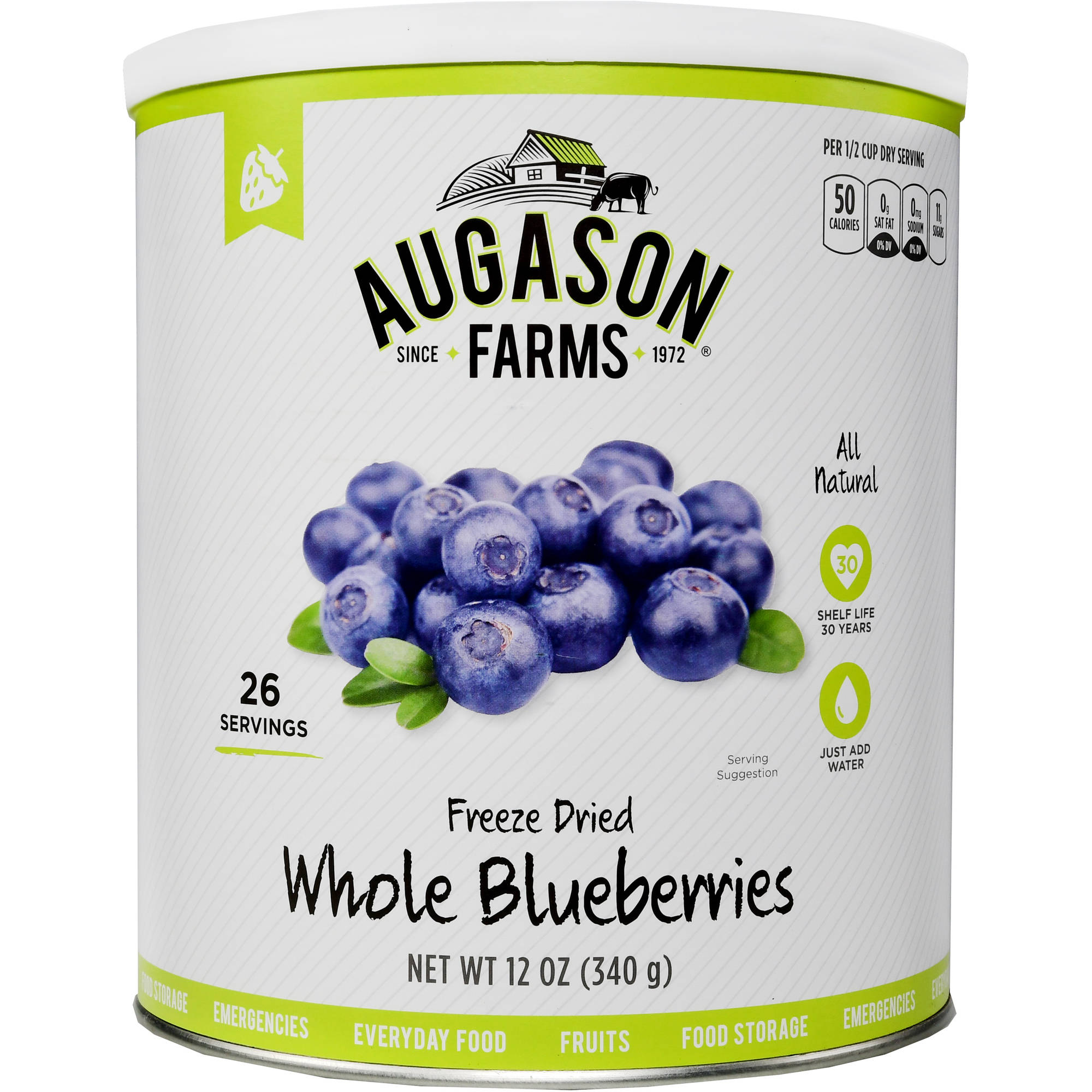Augason Farms Emergency Food Freeze-Dried Whole Blueberries, 12 oz by Generic