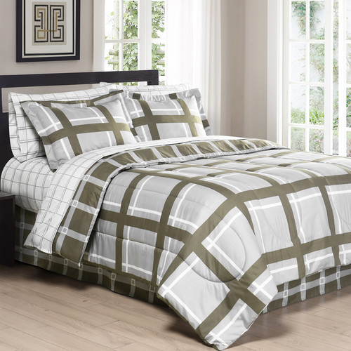 South Bay Down Alternative Comforter mini set Gridwork